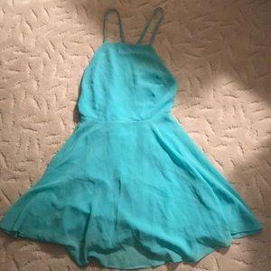 UO turquoise blue skater dress